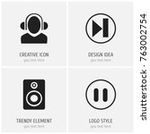 set of 4 editable melody icons. ...