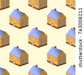 seamless pattern with colorful... | Shutterstock .eps vector #763008211