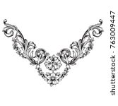 classical baroque vector of... | Shutterstock .eps vector #763009447