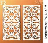 ornamental panels template for... | Shutterstock .eps vector #763015375