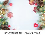 christmas decoration. christmas ... | Shutterstock . vector #763017415