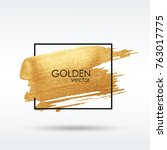 Gold Grunge Texture In A Frame...