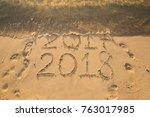 new year 2018 is coming concept ... | Shutterstock . vector #763017985