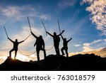 ambitious  determined and... | Shutterstock . vector #763018579