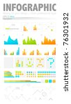 clean style infographic design...   Shutterstock .eps vector #76301932