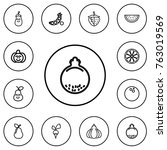 set of 12 editable food outline ...