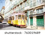 lisbon  portugal   september 28 ... | Shutterstock . vector #763019689
