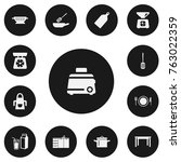 set of 13 editable cook icons....