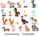 superlarge cartoon set pets | Shutterstock .eps vector #76302286