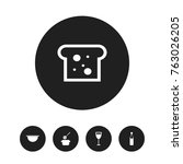 set of 5 editable cook icons....