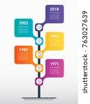vertical timeline infographics. ... | Shutterstock .eps vector #763027639