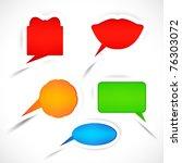 set of sticker bubbles for... | Shutterstock . vector #76303072