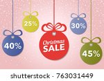 christmas and new year's sale.... | Shutterstock .eps vector #763031449