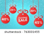 christmas and new year's sale.... | Shutterstock .eps vector #763031455