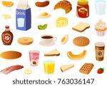 vector illustrations of various ... | Shutterstock .eps vector #763036147