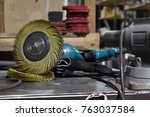 workplace for polishing and... | Shutterstock . vector #763037584