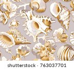seamless pattern with image of... | Shutterstock .eps vector #763037701