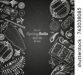 asian food menu design template.... | Shutterstock .eps vector #763038085