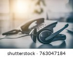 communication support  call... | Shutterstock . vector #763047184