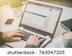 coding code program programming ... | Shutterstock . vector #763047205