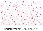 heart confetti or valentines... | Shutterstock .eps vector #763048771