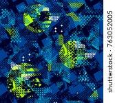 abstract seamless grunge urban... | Shutterstock .eps vector #763052005