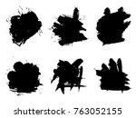 vector collection or set of... | Shutterstock .eps vector #763052155