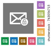 unlock mail flat icons on... | Shutterstock .eps vector #763056715