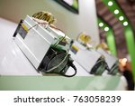 cryptocurrency mining equipment ... | Shutterstock . vector #763058239