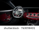 modern luxury prestige car... | Shutterstock . vector #763058431