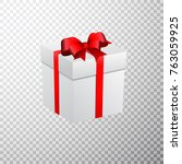 christmas gift box on... | Shutterstock .eps vector #763059925
