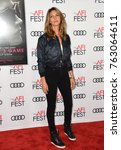 "Small photo of LOS ANGELES, CA - November 16, 2017: Dawn Olivieri at the AFI Fest 2017 Closing Night premiere of ""Molly's Game"" at the TCL Chinese Theatre"