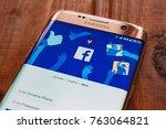 kazan  russian federation   sep ... | Shutterstock . vector #763064821
