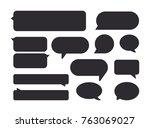 speech bubbles. vector  icon....   Shutterstock .eps vector #763069027