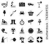 azure coast icons set. simple... | Shutterstock .eps vector #763069531