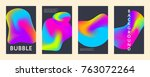 liquid color covers set. fluid... | Shutterstock .eps vector #763072264