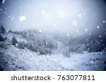 christmas and new year... | Shutterstock . vector #763077811