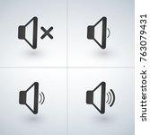 audio speaker volume or music...