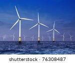 White Wind Turbine Generating...
