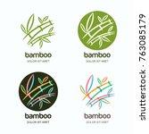 vector set of logo icon or... | Shutterstock .eps vector #763085179