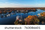 an aerial view of historic... | Shutterstock . vector #763086601