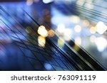 abstract business modern city... | Shutterstock . vector #763091119