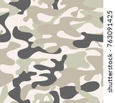 seamless camouflage pattern.... | Shutterstock .eps vector #763091425