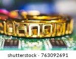computer in macro. various... | Shutterstock . vector #763092691