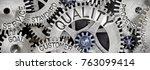 macro photo of tooth wheel... | Shutterstock . vector #763099414