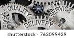macro photo of tooth wheel... | Shutterstock . vector #763099429