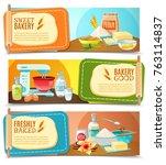 three colorful horizontal...   Shutterstock . vector #763114837