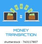 money transfer transaction... | Shutterstock .eps vector #763117807