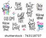lettering photography overlay... | Shutterstock .eps vector #763118737