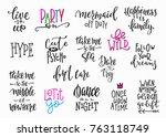 lettering photography overlay... | Shutterstock .eps vector #763118749